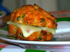 Muffin primavera light pisellini e carote