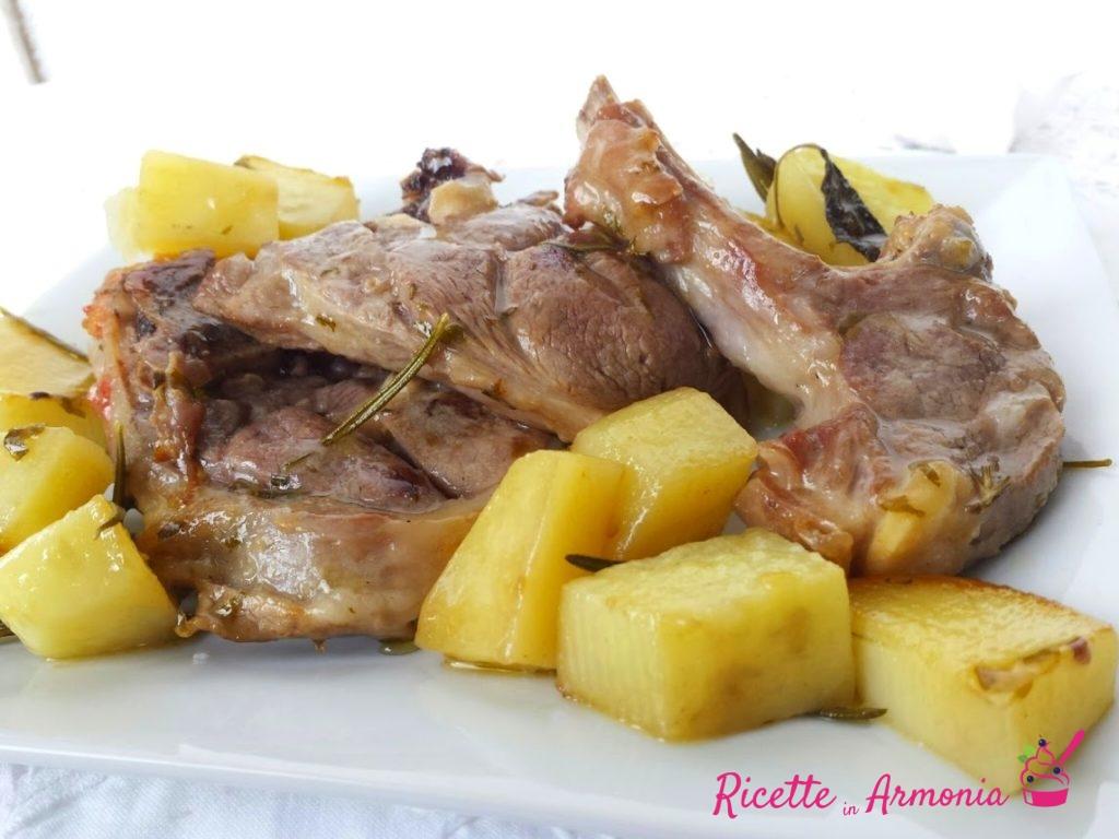 Lombatine d'agnello con patate