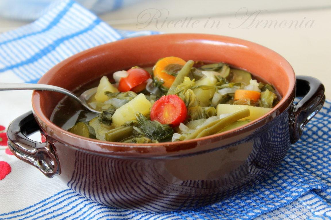 Minestrone o vellutata light di verdure fresche!