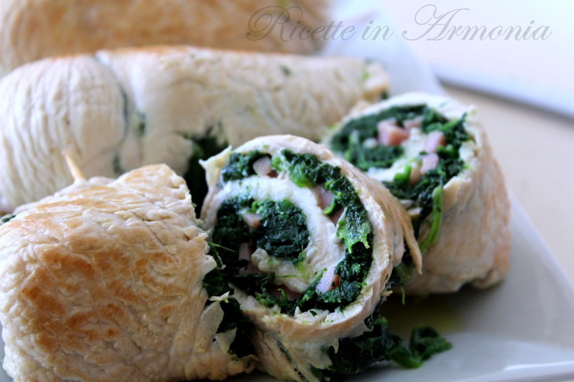 Involtini light di tacchino e spinaci!