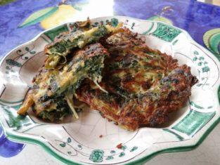 Frittelle di spinaci piatto sfizioso