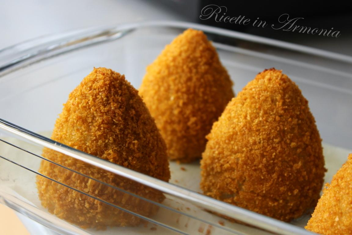 Arancine al forno light agli spinaci