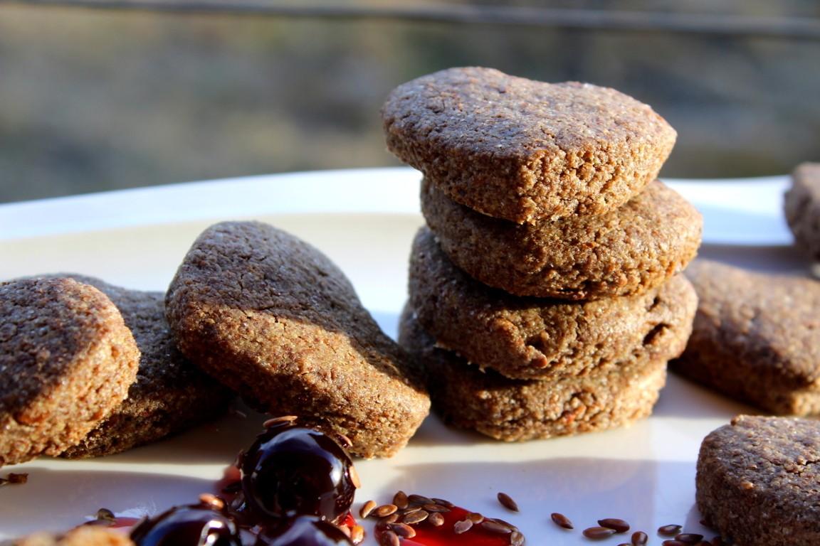 Biscotti di semi di lino e cioccolato