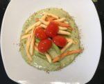 Pasta tricolore pomodoro e basilico