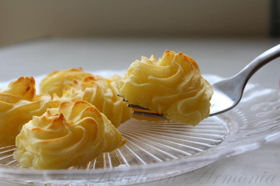 Patate duchessa light, senza uova ne burro solo 102 cal