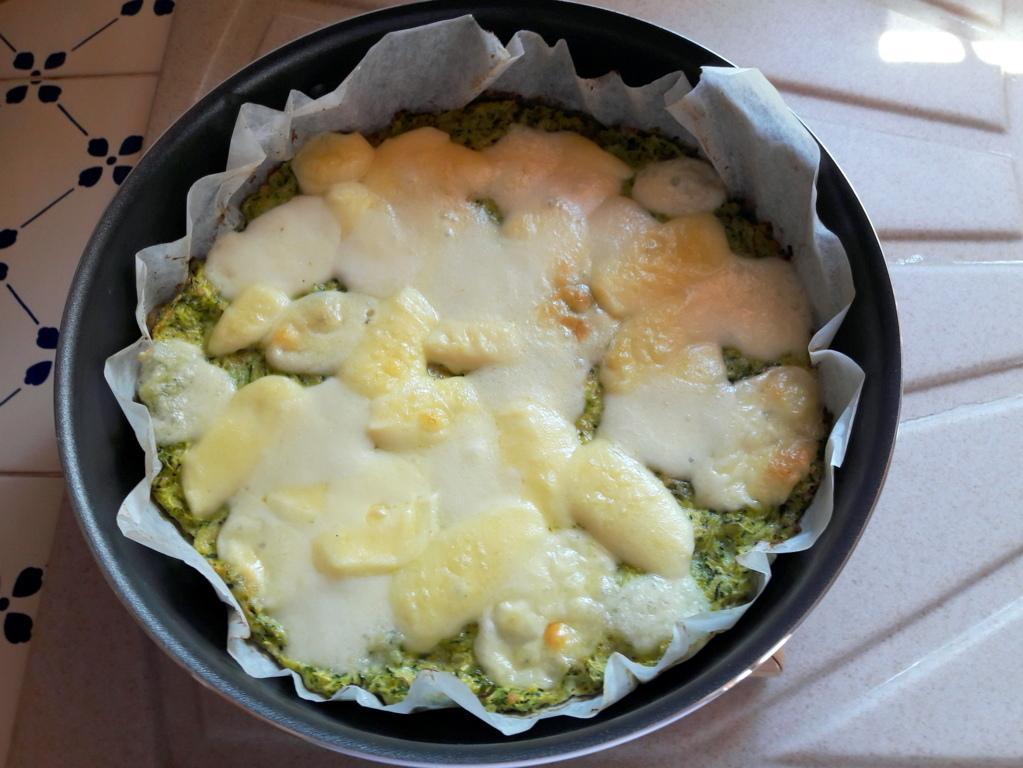 Tortino filante di zucchine e mozzarella