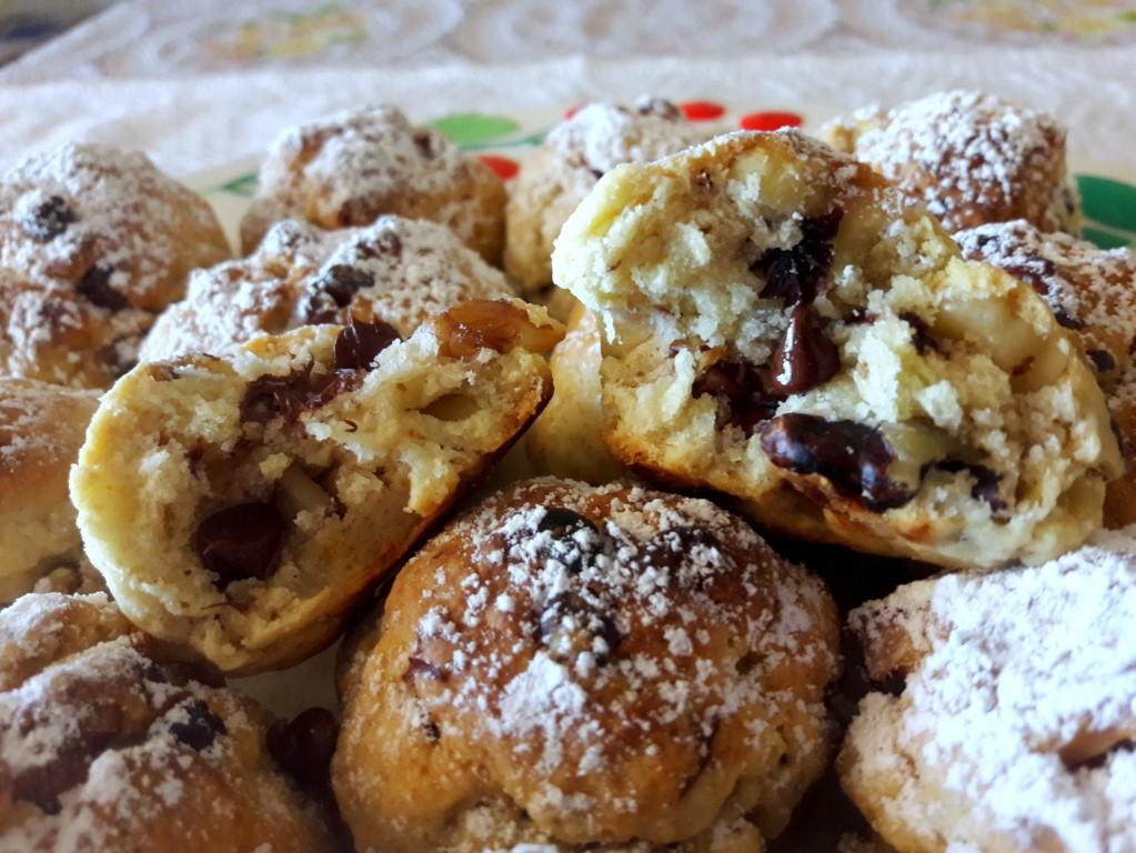 Biscotti rustici senza bilancia con noci e cioccolato