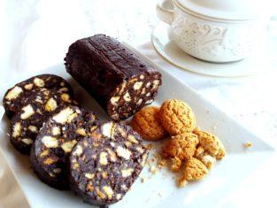Salame al cioccolato e caffè senza uova