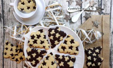 Biscotti bicolore albero di natale