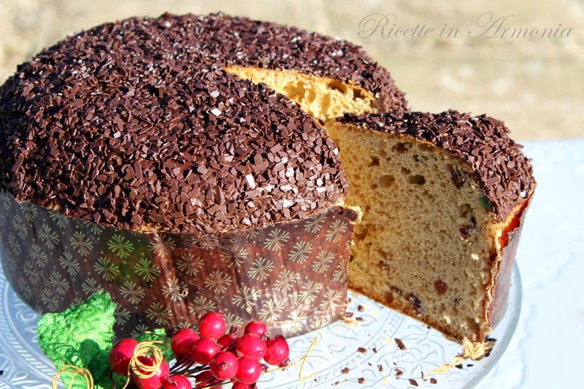 Panettone facilissimo al cioccolato senza burro