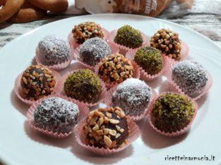 Palline di salame al cioccolato