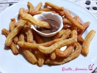 Churros con nutella