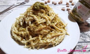 Trofie cremose ricotta e pistacchio