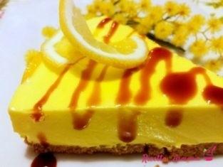 Cheescake mimosa al limone