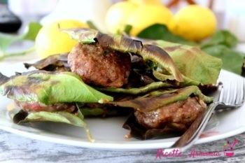 Polpette in foglie di limone