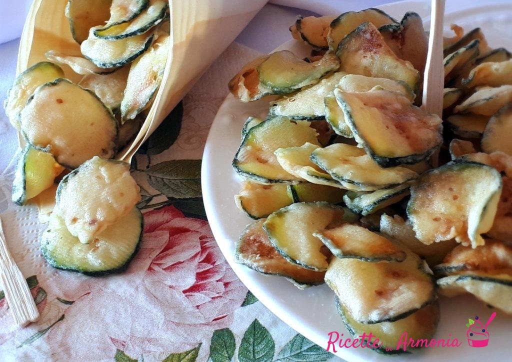Zucchine fritte solo infarinate croccantissime