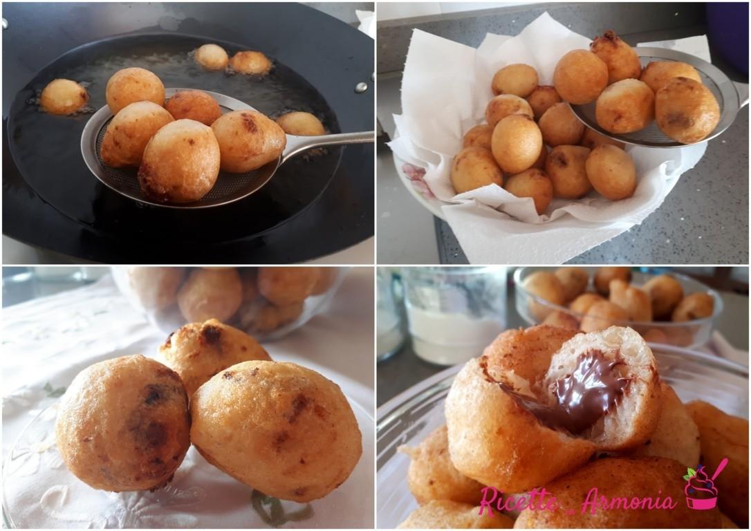 Zeppole siciliane alla nutella