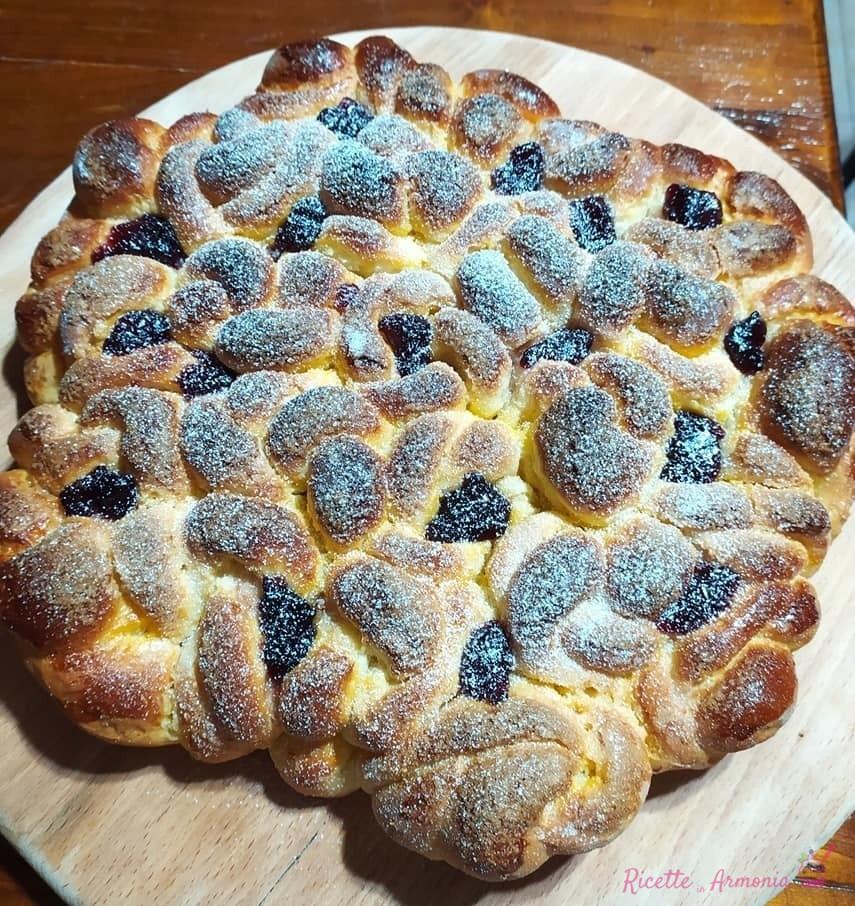 Pan brioche fiorito