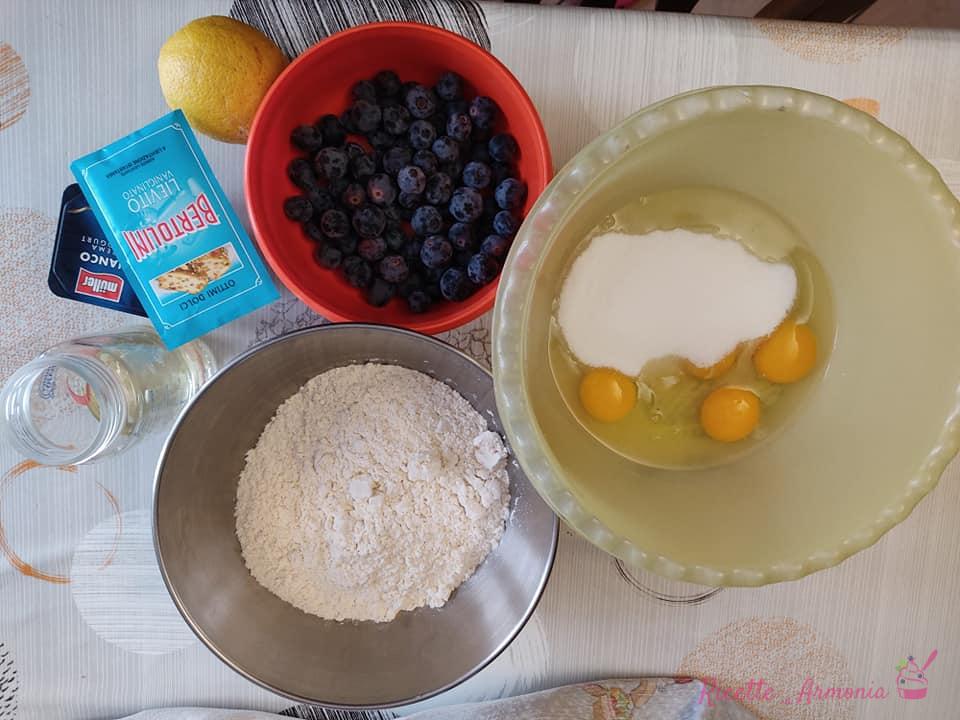 Ciambella allo yogurt e mirtilli