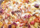 Lasagne con zucca, salamella e formaggi misti