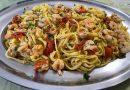 tagliolini gamberetti pomodorini e pistacchio